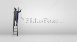 businessman-on-ladder-drawing-sketch-ideas-to-wall-blank-stock-photo
