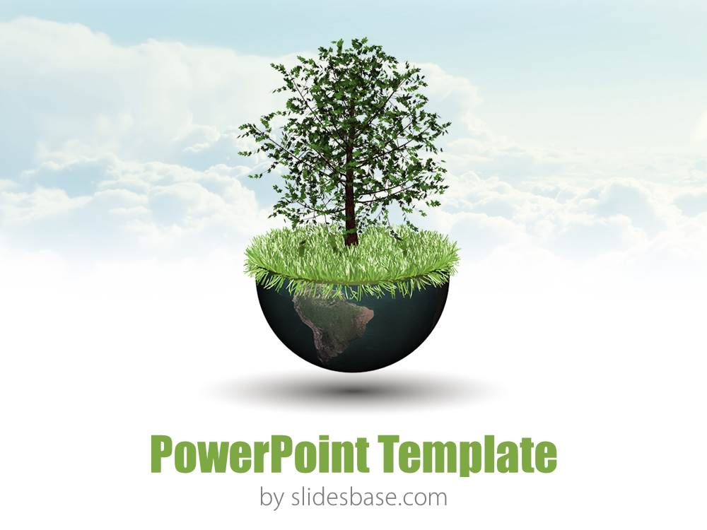 World growth powerpoint template slidesbase world growth global economy 3d world globe tree toneelgroepblik Images