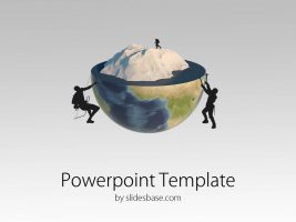 Slide1-Global-warming-3d-earth-climate-iceberg-ice-melting-people-climbers-powerpoint-template