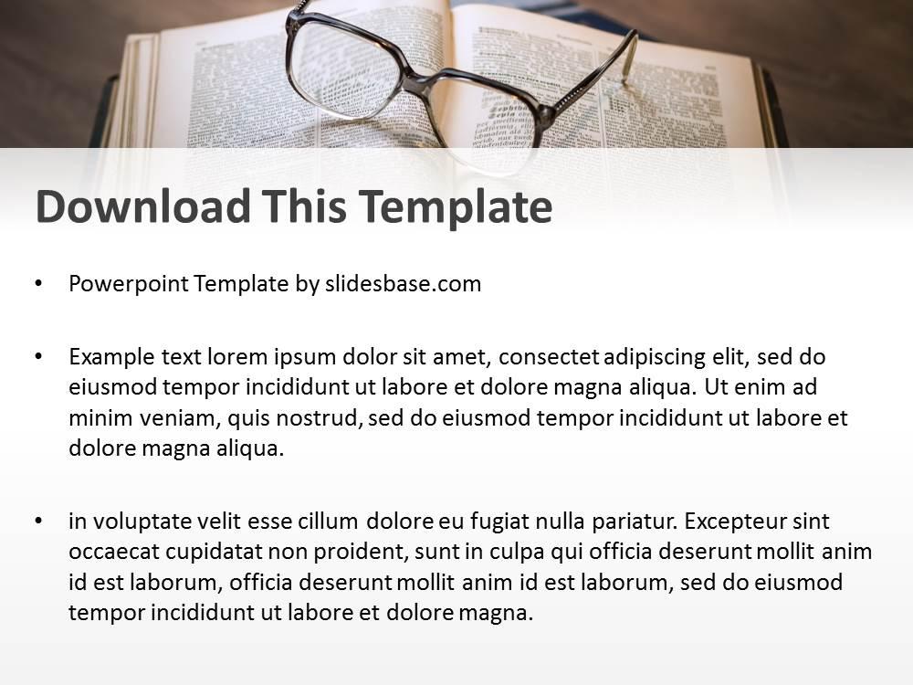 Books reading powerpoint template slidesbase books reading powerpoint template toneelgroepblik Images