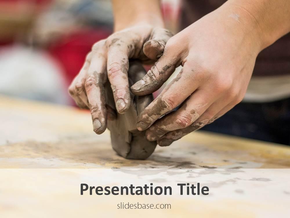 Pottery powerpoint template slidesbase clay pottery handicraft clay shaping powerpoint template ppt toneelgroepblik Images