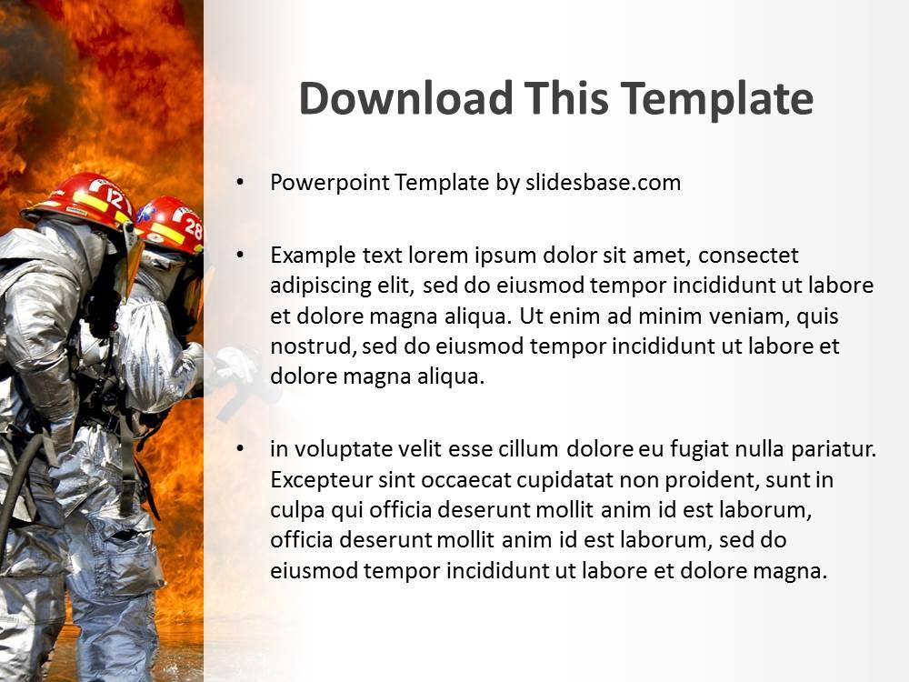 Firefighters Powerpoint Template Slidesbase