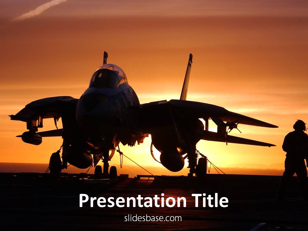 jet fighter powerpoint template | slidesbase, Modern powerpoint