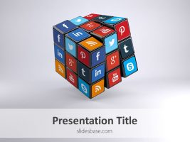 3d-social-media-icons-on-rubiks-cube-ppt-template-powerpoint-slide1-1