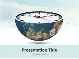 3d-world-earth-globe-as-clock-face-shape-world-time-ppt-powerpoint-template-download-slide1-1
