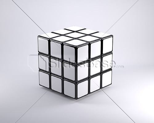 blank-white-3d-rubiks-cube-stock-photo