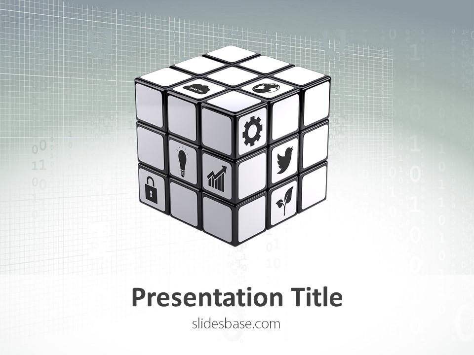 business cube – powerpoint template | slidesbase, Presentation templates