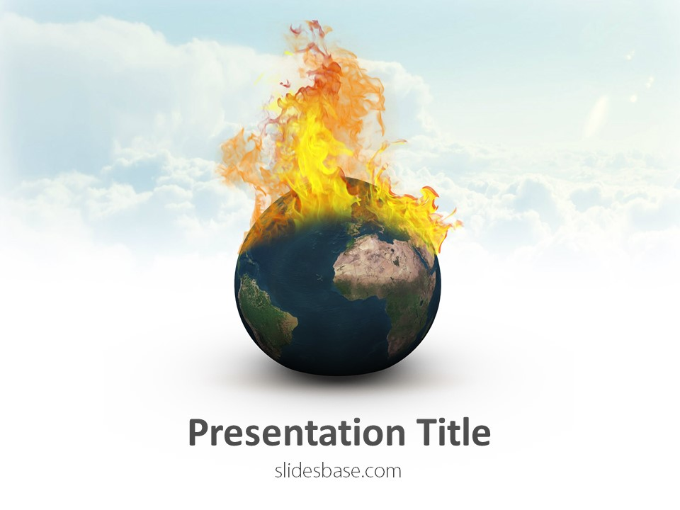 global warming powerpoint template | slidesbase, Modern powerpoint