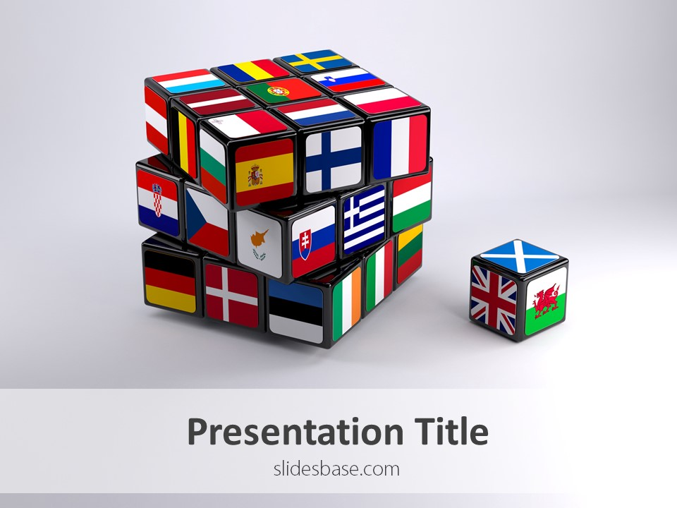 brexit cube – powerpoint template | slidesbase, Modern powerpoint