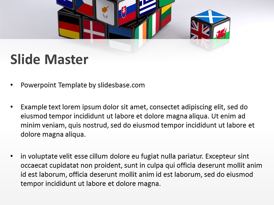 Brexit cube powerpoint template slidesbase european union flags om rubiks cube 3d versus toneelgroepblik Image collections