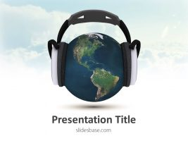 globe-with-headphones-3d-music-melody-dj-dance-sing-ppt-powerpoint-template-slide1-1
