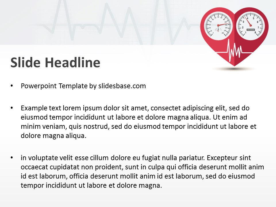 Heart condition powerpoint template slidesbase heart condition powerpoint template toneelgroepblik Images