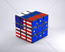 russia-usa-european-union-flags-on-rubiks-cube-3d-stock-photo