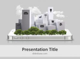 smart-city-technology-3d-house-buildings-on-iphone-small-town-ppt-future-powerpoint-template-slide1-1
