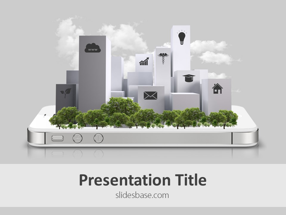 Technology slidesbase smart city powerpoint template toneelgroepblik Image collections