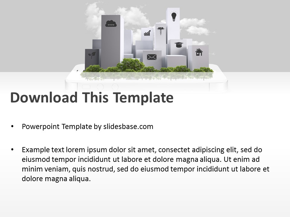 Smart city powerpoint template slidesbase smart city powerpoint template toneelgroepblik