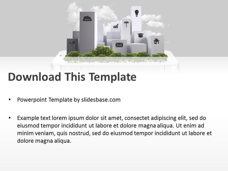 Smart City PowerPoint Template | Slidesbase
