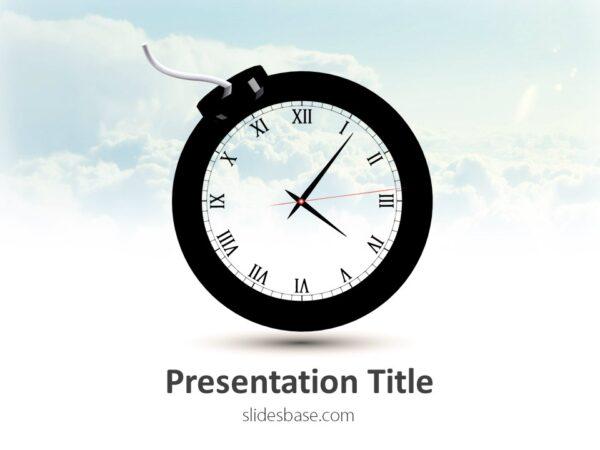 time-bomb-creative-3d-bomb-as-clock-shape-ppt-powerpoint-template-deadlines-slide1-1