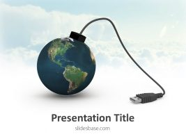world-as-usb-bomb-shape-earth-technology-connections-presentation-ppt-template-powerpoint-slide1-1