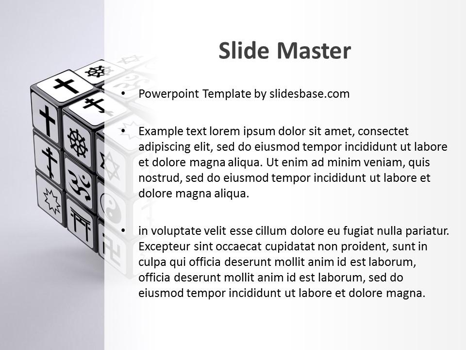 religions powerpoint template slidesbase