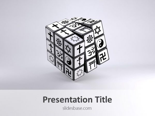 world-religions-on-3d-cube-rubiks-powerpoint-religious-ppt-templateslide1-1