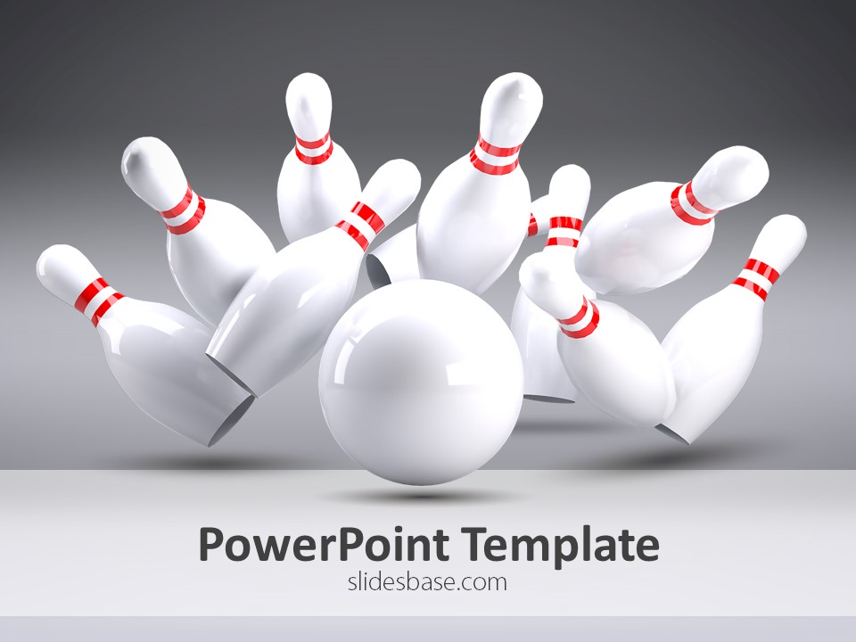 Bowling Strike Powerpoint Template | Slidesbase