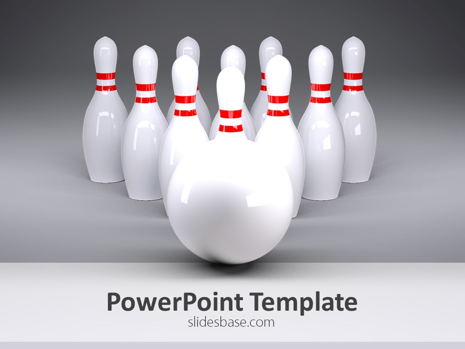 bowling powerpoint template slidesbase
