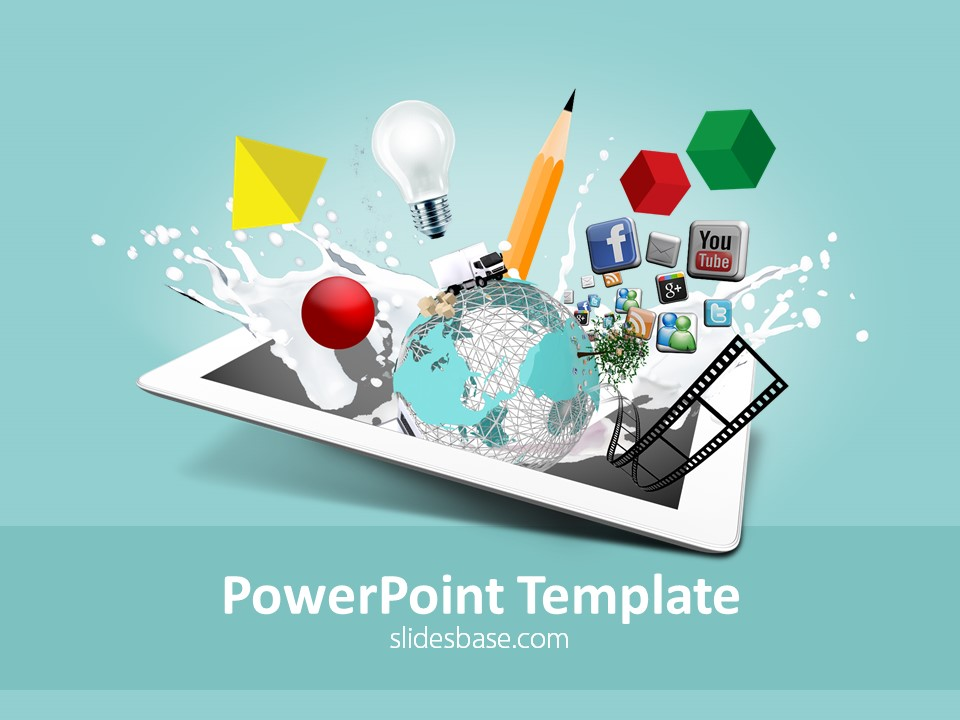 Creative design powerpoint template slidesbase creative abstract design ipad creativity 3d multimedia concept toneelgroepblik Choice Image