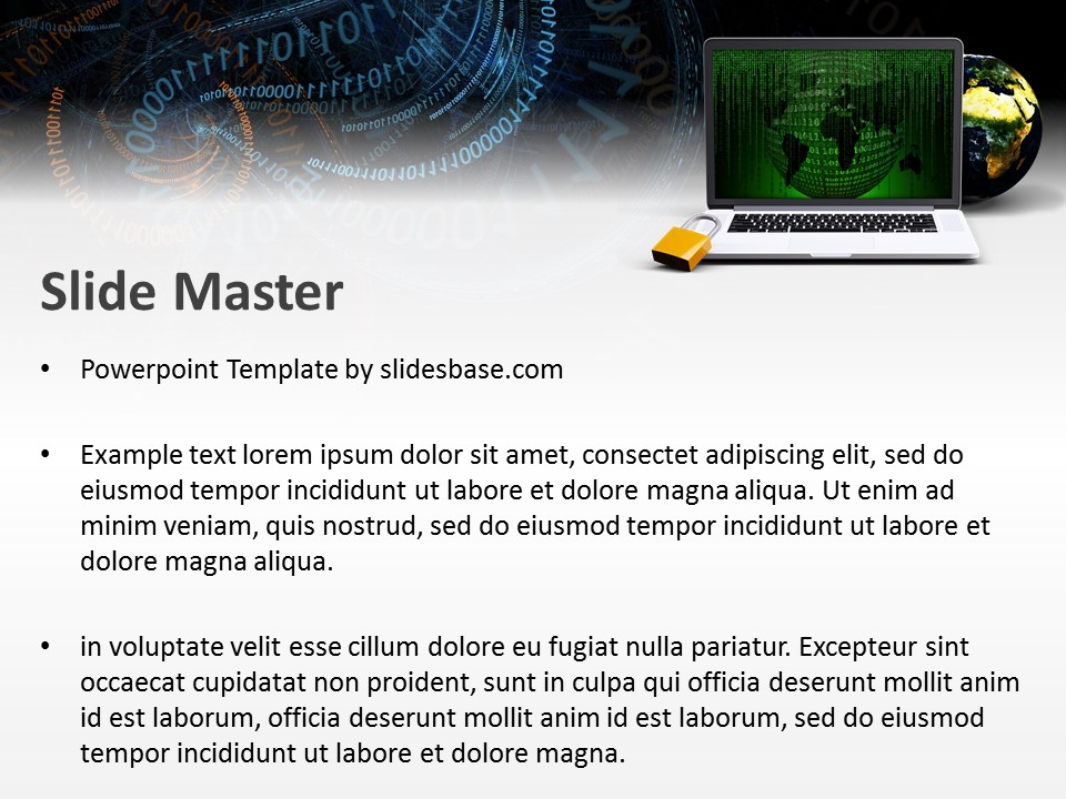 Online security powerpoint template slidesbase online security powerpoint template toneelgroepblik Choice Image