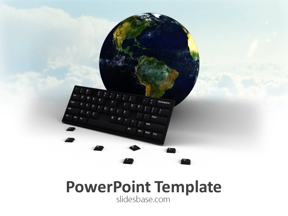 world communication powerpoint template slidesbase