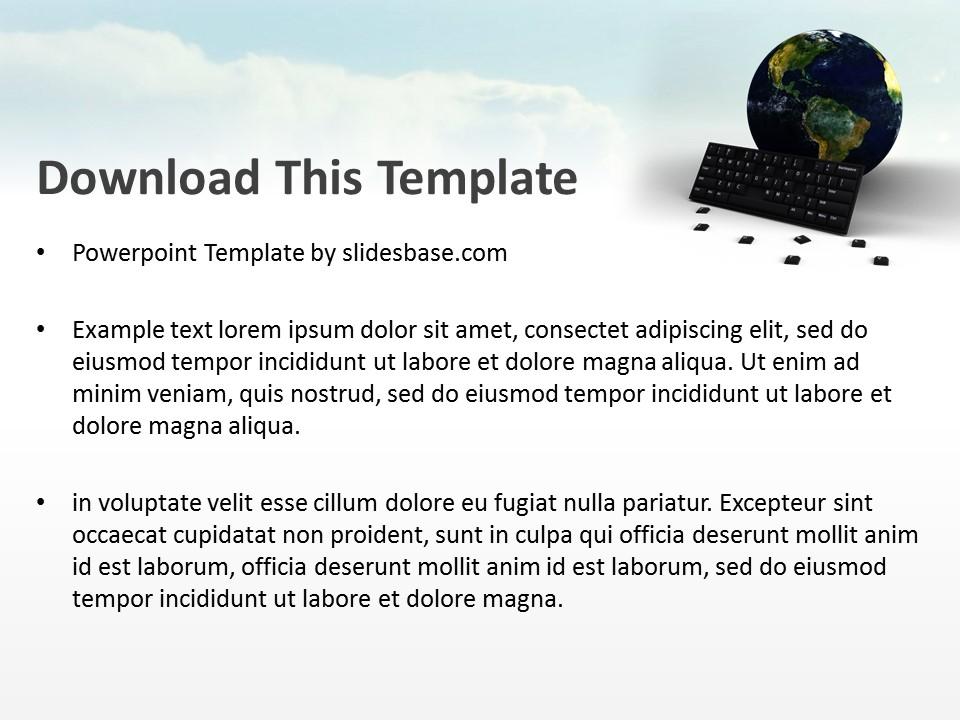 World Communication PowerPoint Template | Slidesbase