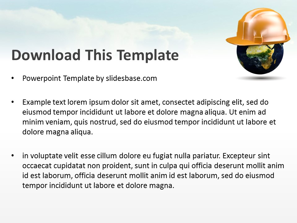 World safety powerpoint template slidesbase world safety powerpoint template toneelgroepblik Gallery