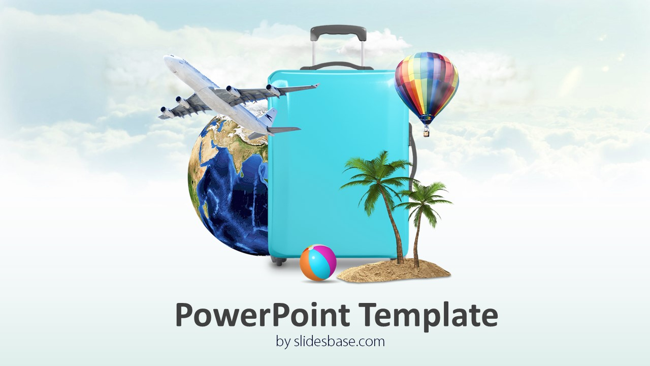 3d Travel Powerpoint Template Slidesbase