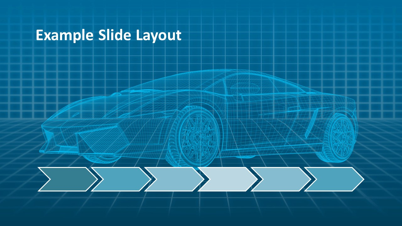 Virtual Car Powerpoint Template