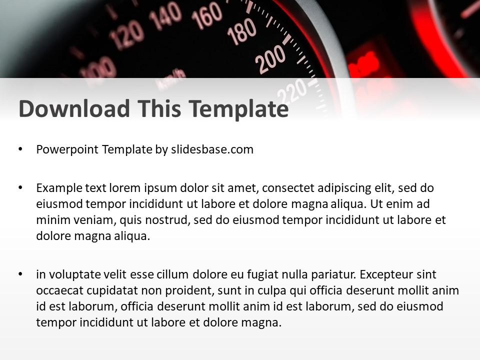 Speedometer powerpoint template slidesbase speedometer powerpoint template toneelgroepblik Gallery