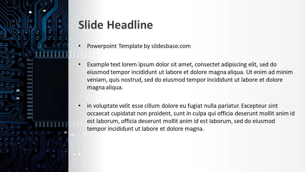 Computer Chip Powerpoint Template Slidesbase