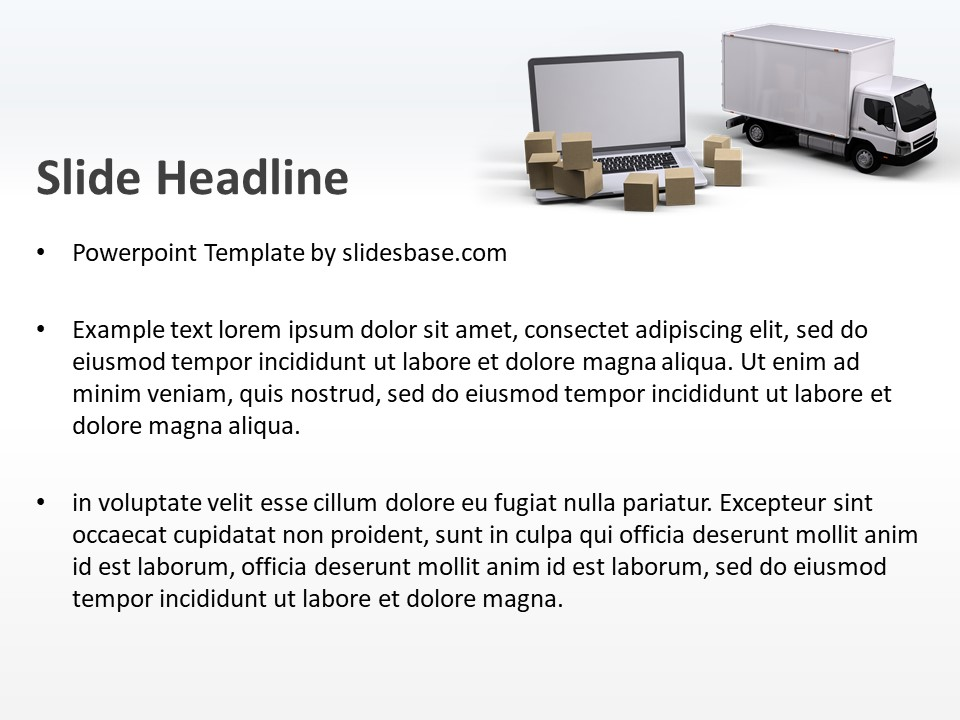 IT & Logistics PowerPoint Template