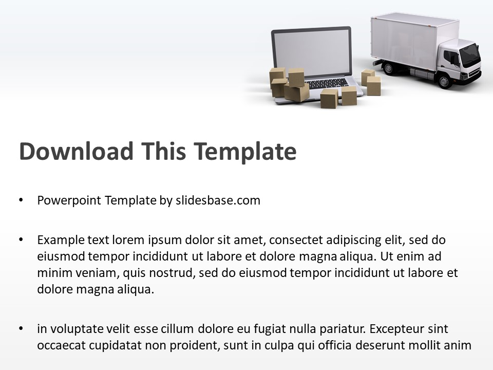 IT & Logistics PowerPoint Template