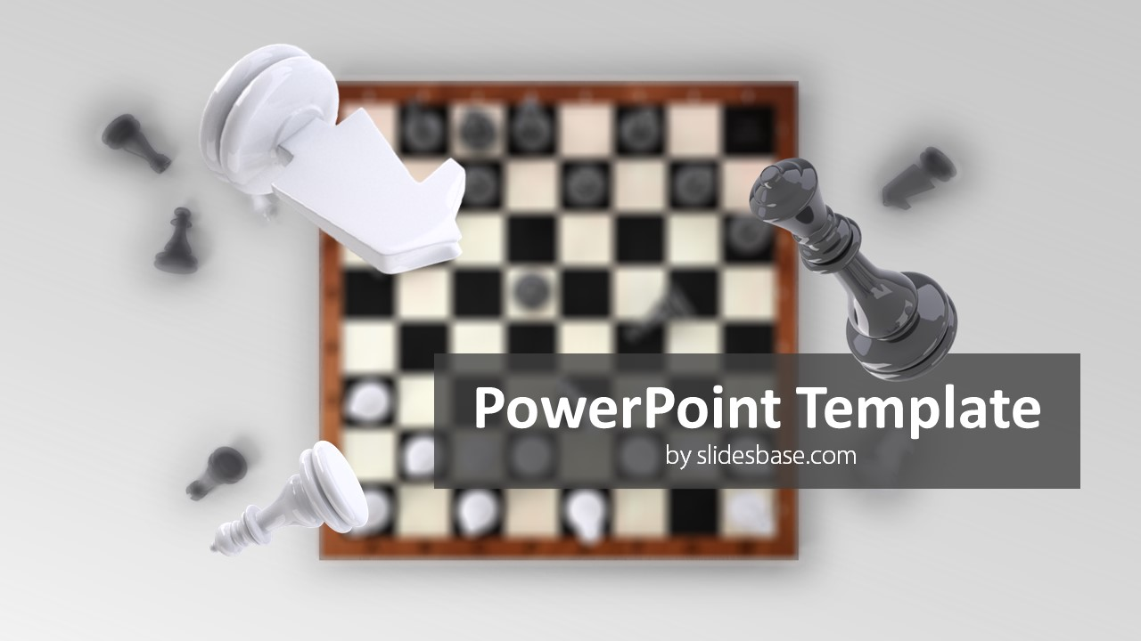 chess strategy powerpoint template slidesbase