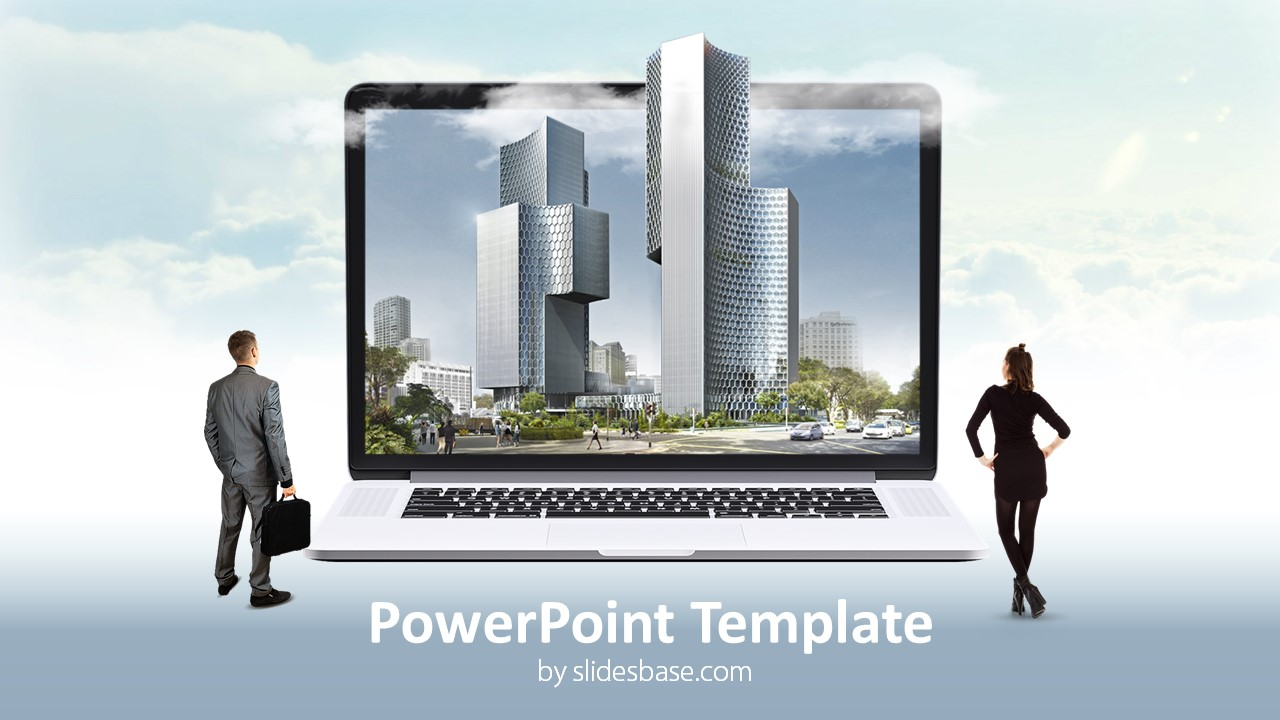 Digital Business Landscape PowerPoint Template | Slidesbase