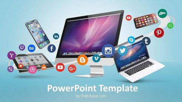 Digital Business & Social Media - PowerPoint Template