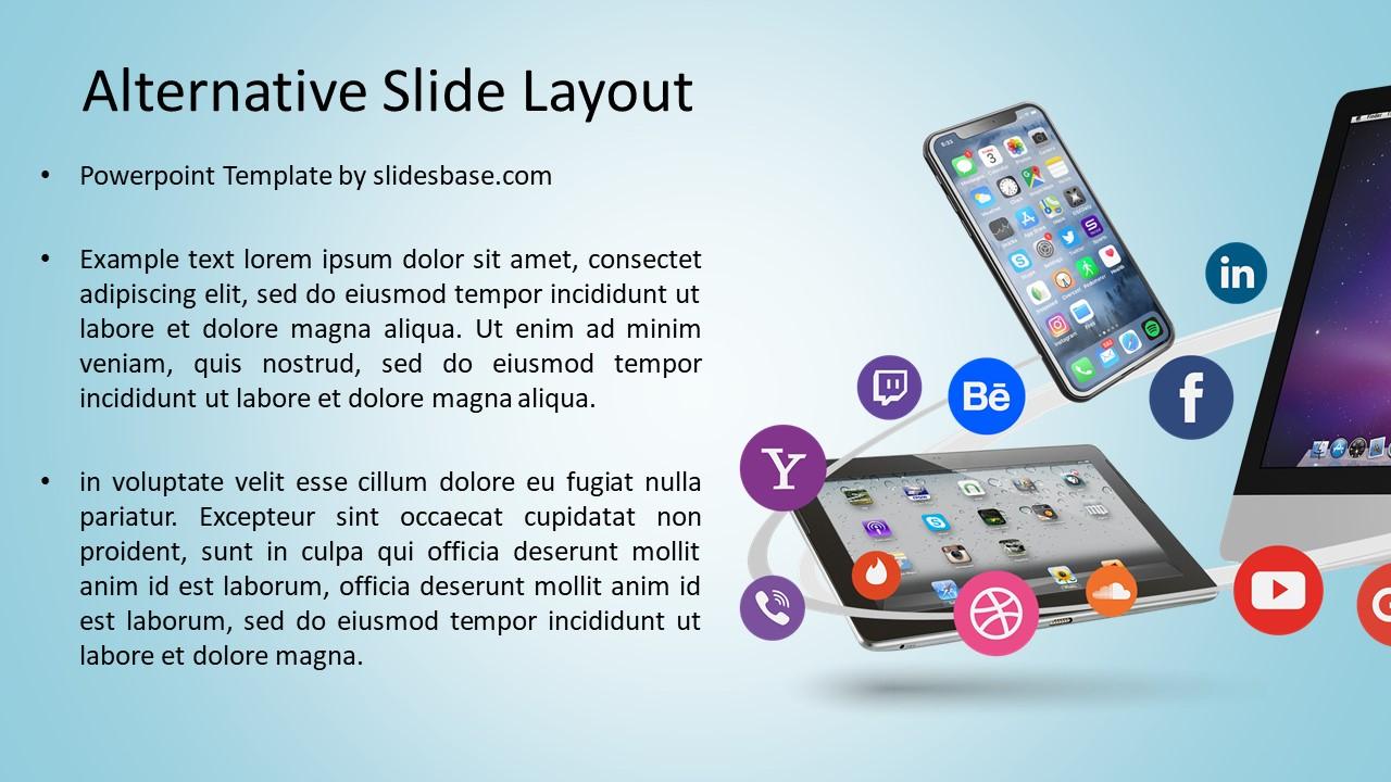 Digital Business Social Media PowerPoint Template Slidesbase - Social media powerpoint template