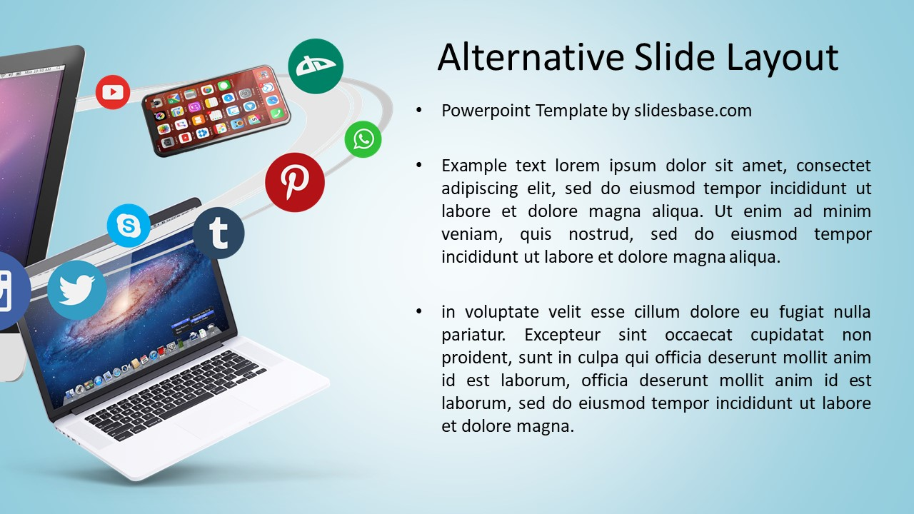 Digital business social media powerpoint template slidesbase digital business social media powerpoint template accmission Images