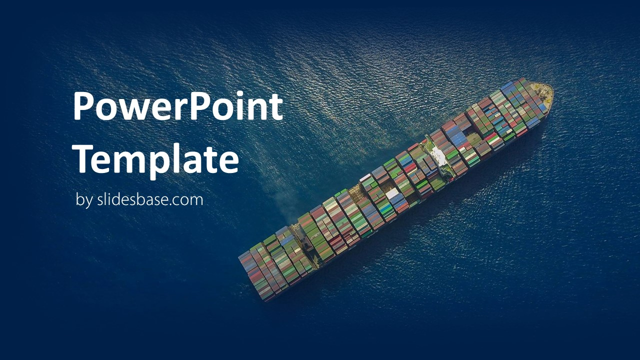 Shipping and logistics powerpoint template slidesbase logistics shipping container ship ocean transport sea powerpoint toneelgroepblik Gallery