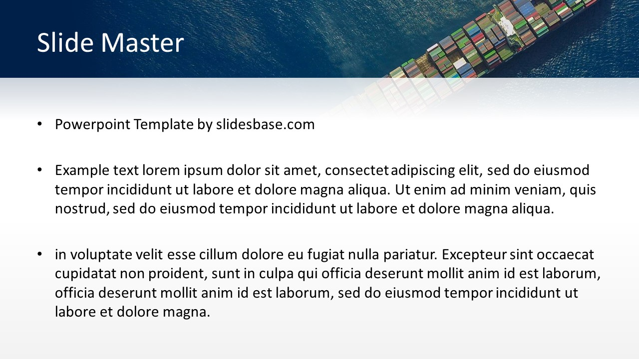 Shipping and Logistics PowerPoint Template