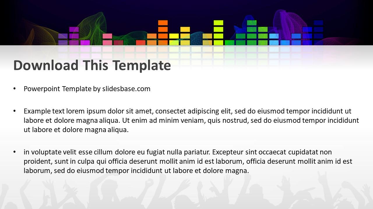 Music flow powerpoint template slidesbase music flow powerpoint template toneelgroepblik Choice Image