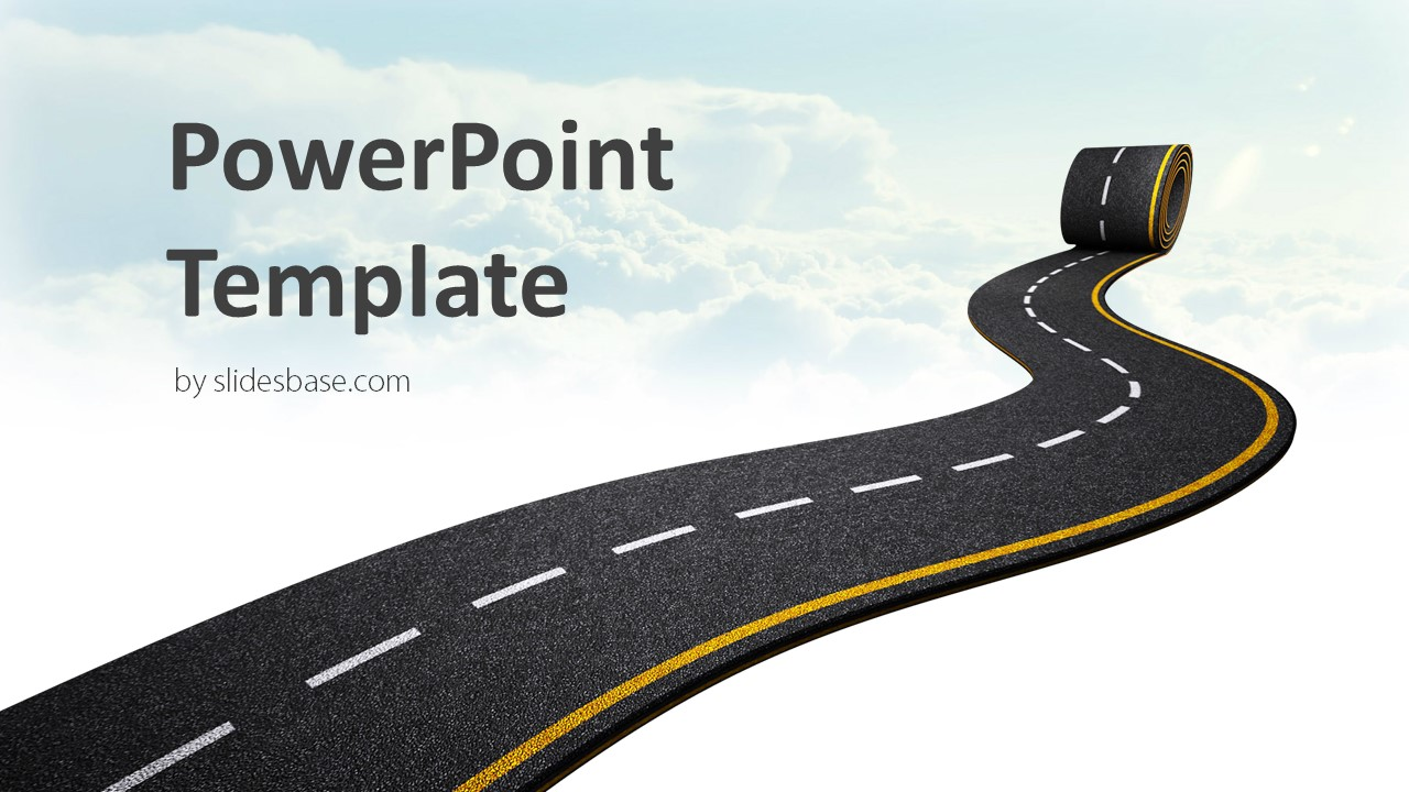 Pave The Way Powerpoint Template Slidesbase