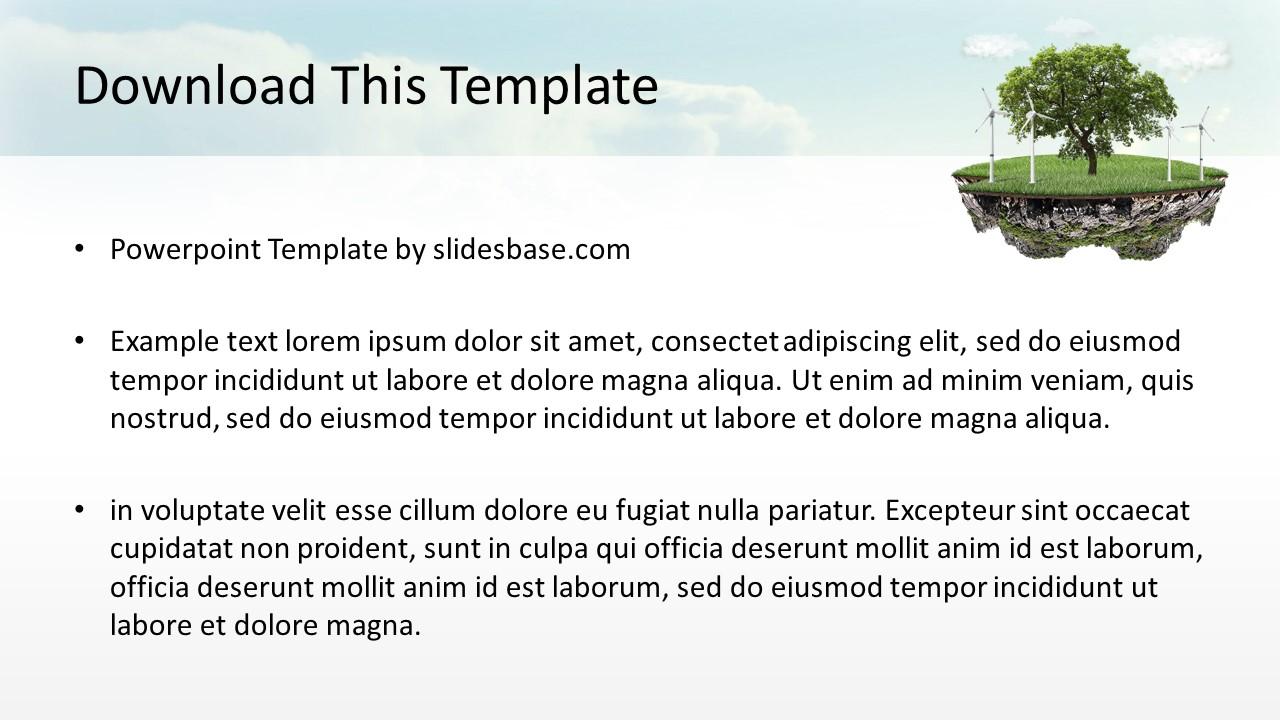 green technology evolution powerpoint template slidesbase