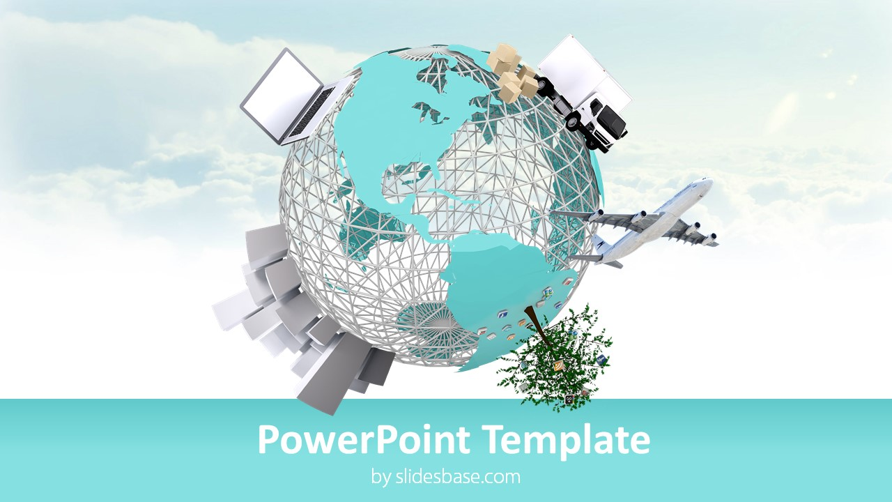 3d Small World Powerpoint Template Slidesbase