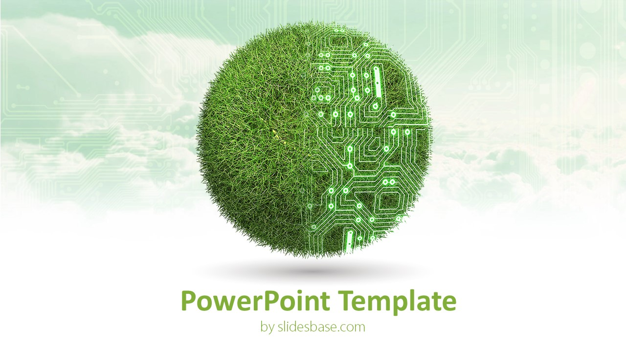 green technology powerpoint template slidesbase